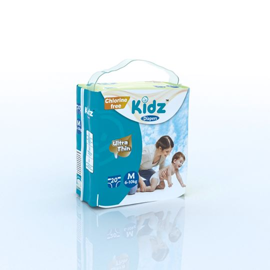 kidz Diapers L(9-13kg) 18pcs